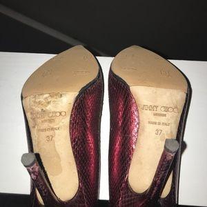 Jimmy Choo Shoes - Metallic Python Jimmy Choo Heels size 7